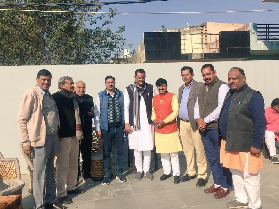 दिल्ली में होने वाले विधानसभा चुनाव हेतु पदाधिकारीओ के साथ बैठक