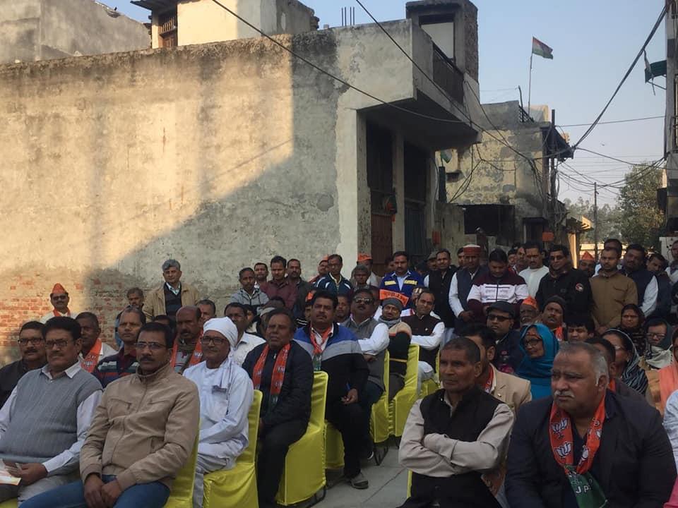 नजफगढ़ विधानसभा सीट के समर्थन में आयोजित चुनावी नुक्कड़ सभा, दिल्ली