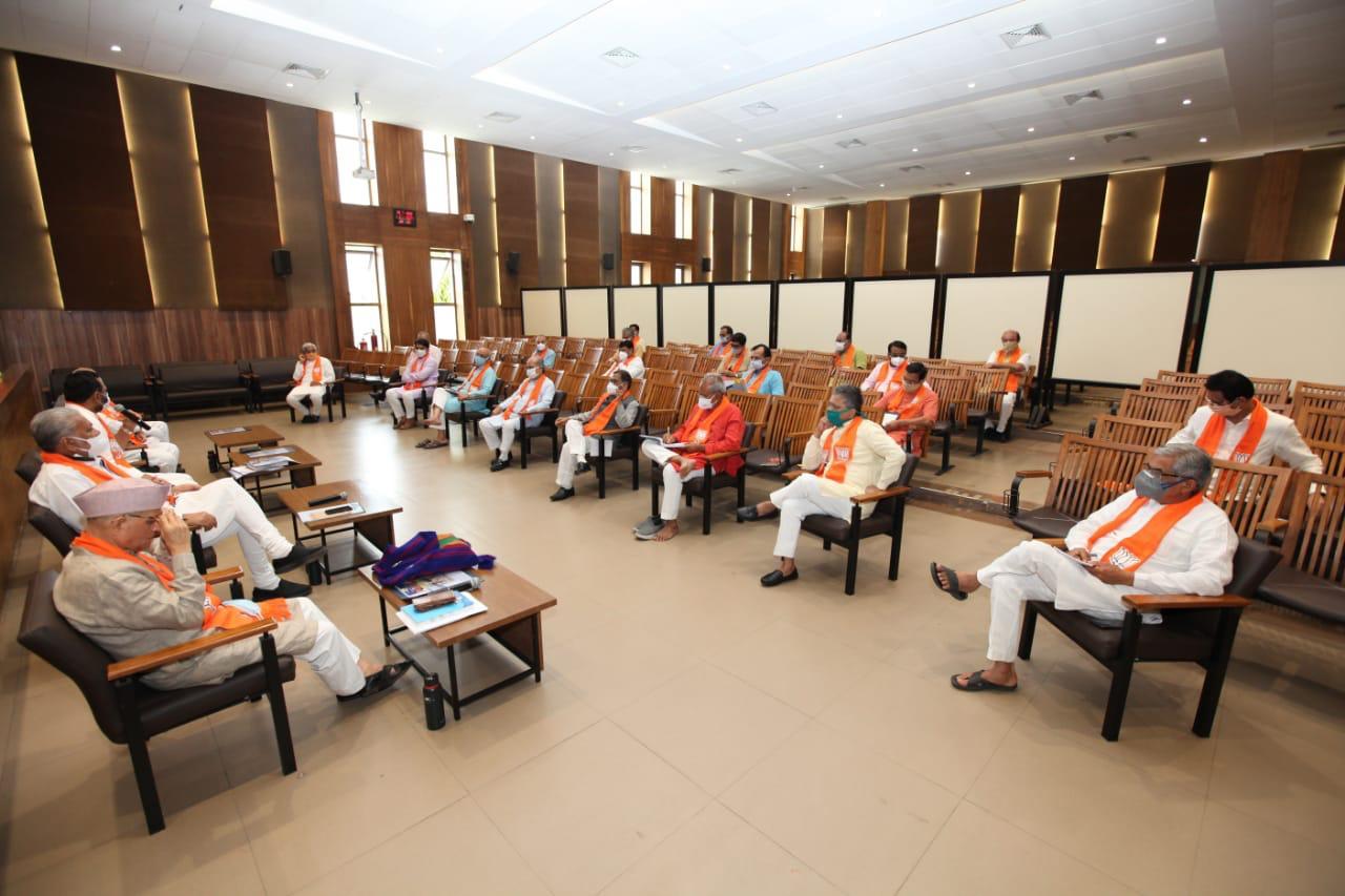 પ્રદેશ કોર કમિટીની બેઠક - ગાંધીનગર